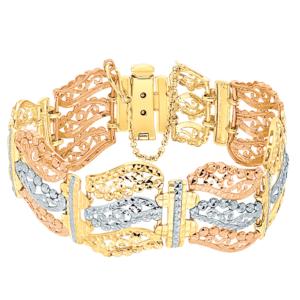 Ming Seng tri gold bracelet