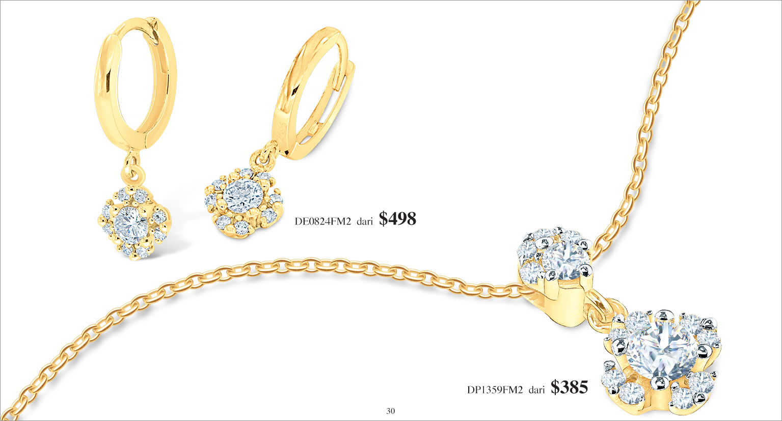 Ming Seng diamond earrings pendant