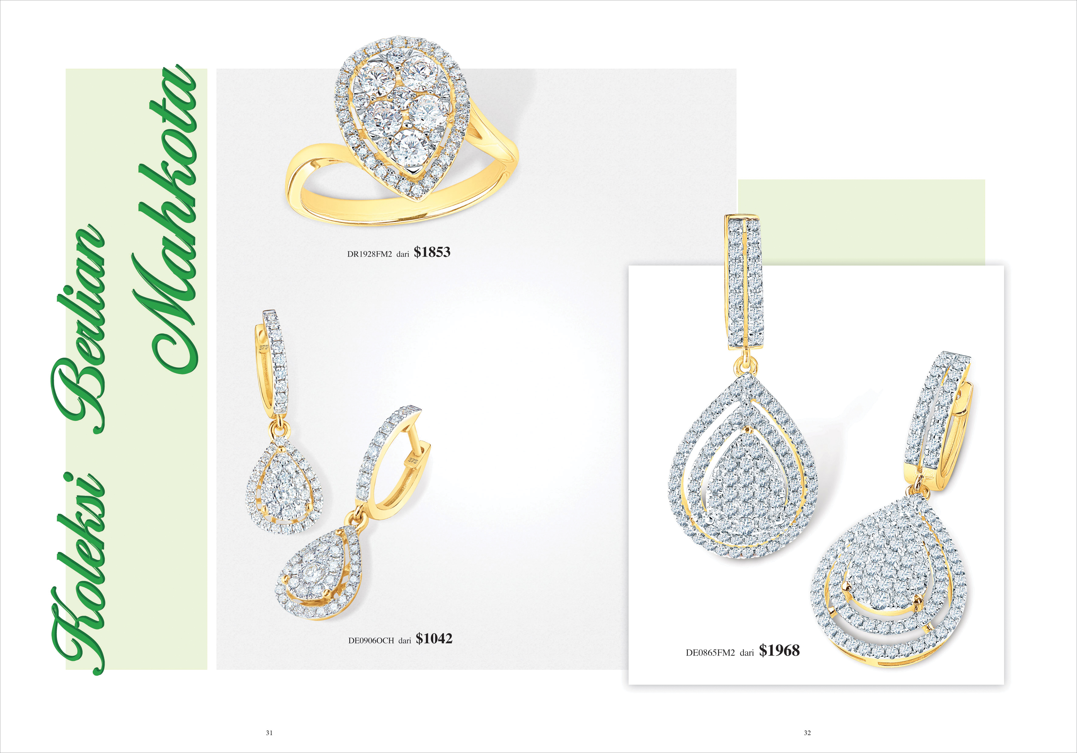 Ming Seng diamond earrings rings