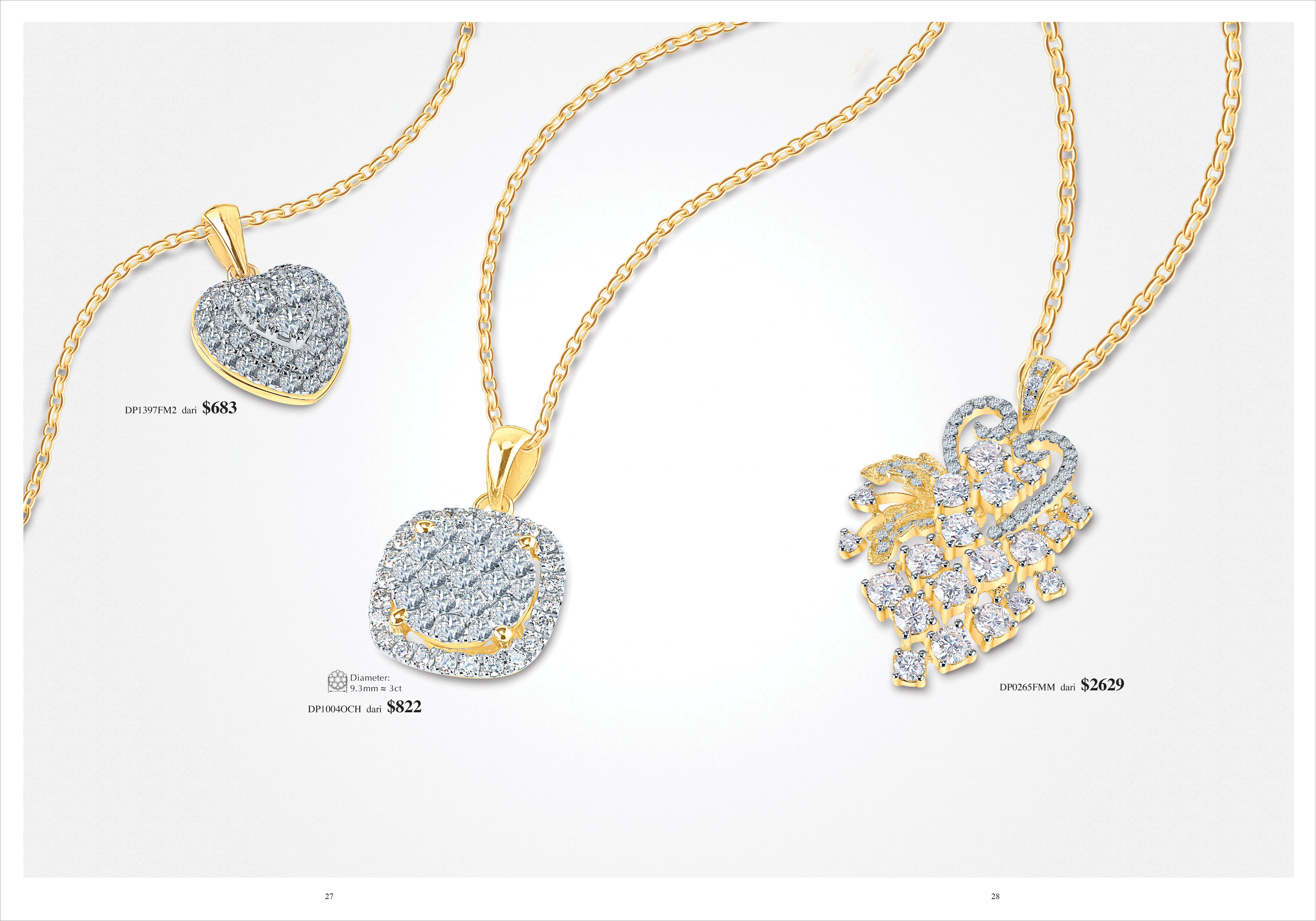 Ming Seng diamond pendants