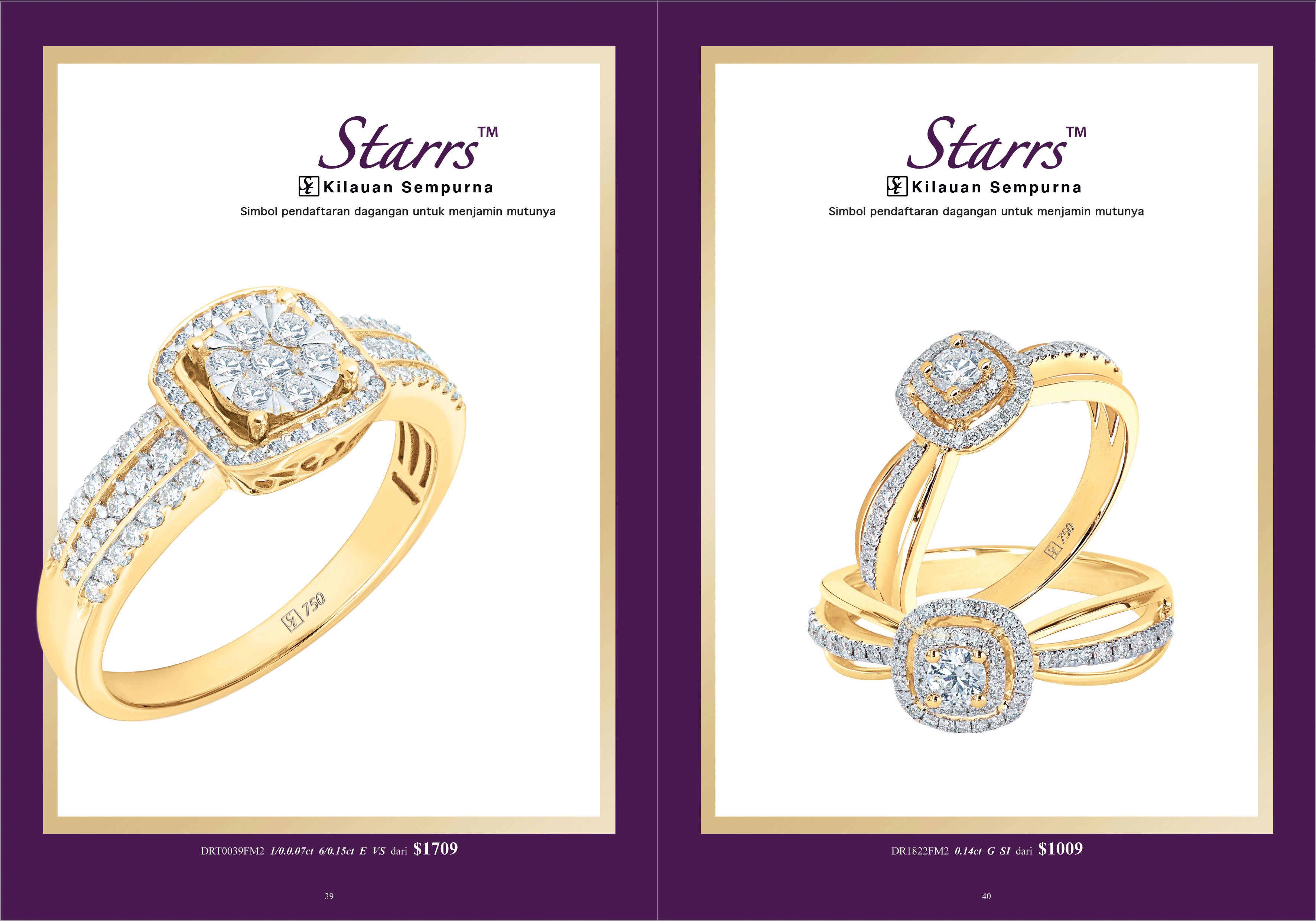 Ming Seng starrs diamond rings
