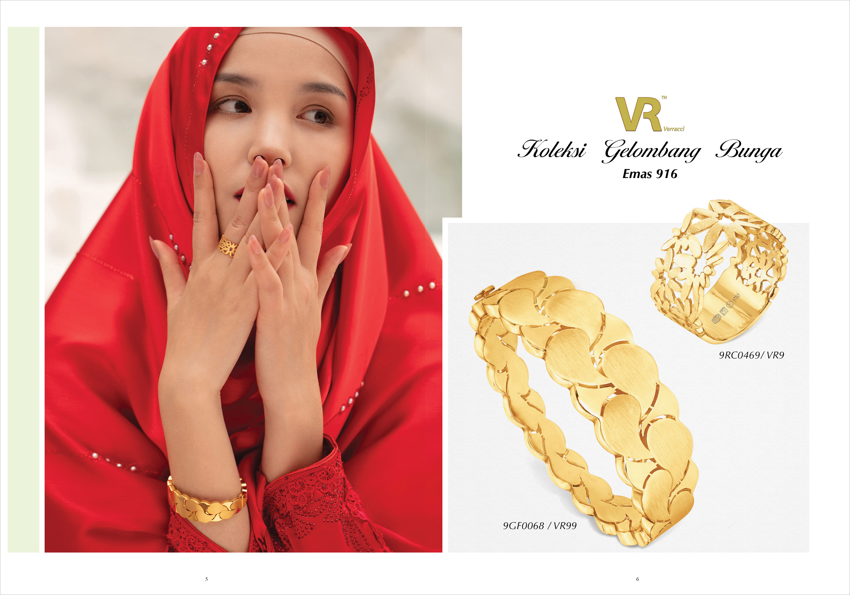Ming Seng gold bangle ring